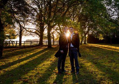 Sun set Wedding Photos