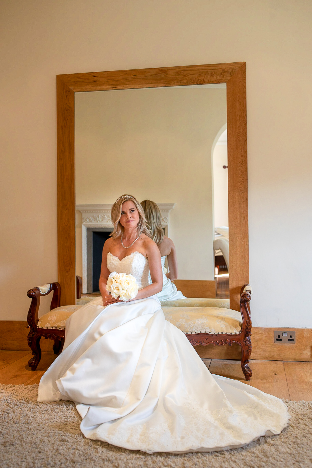 Notley Abbey wedding bridal portrait